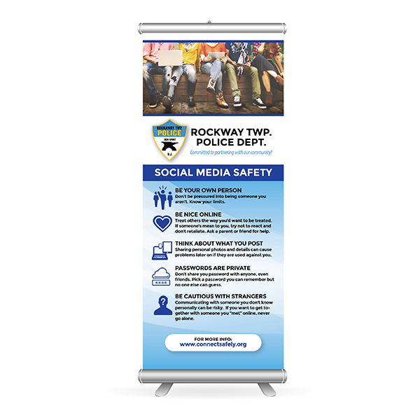 Social Media Safety Banner Stand